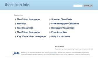 Main page screenshot of thecitizen.info