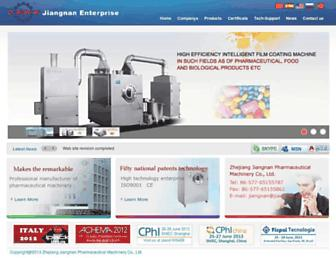 Main page screenshot of jiangnan.co