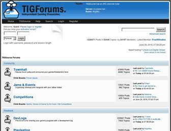 forums.tigsource.com screenshot
