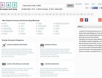 acronymsandslang.com screenshot
