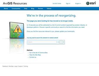 help.arcgis.com screenshot