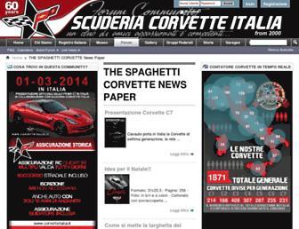 corvetteitalia.it screenshot