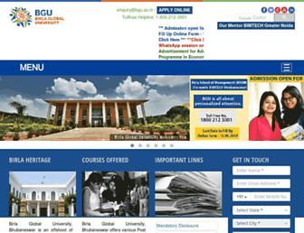 bgu.ac.in screenshot