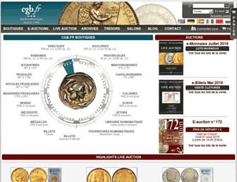 Main page screenshot of cgb.fr