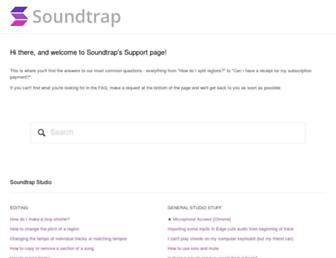 support.soundtrap.com screenshot