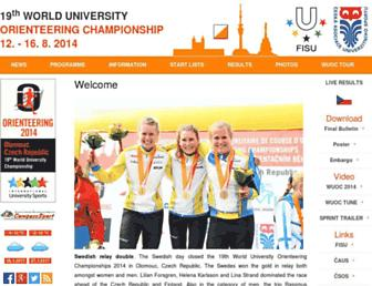 Main page screenshot of wuoc2014.cz