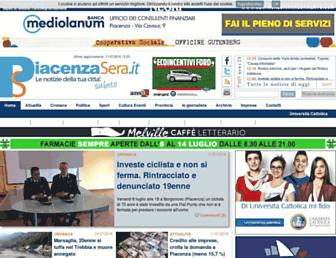 Main page screenshot of piacenzasera.it