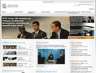 wto.org screenshot