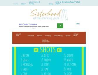 Main page screenshot of shrinkingjeans.net