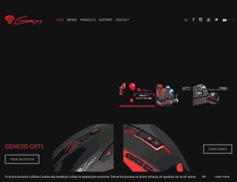 genesis-zone.com screenshot