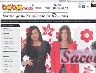 bobomoda.ro screenshot