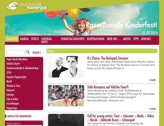 Main page screenshot of sunergia.be
