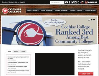 cochise.edu screenshot