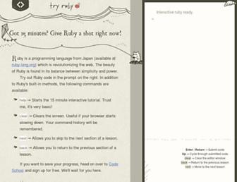 Thumbshot of Tryruby.org