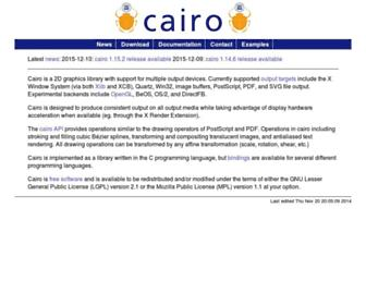 cairographics.org screenshot