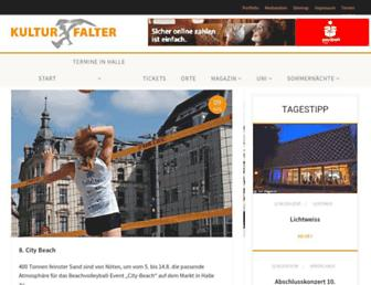 Main page screenshot of kulturfalter.de