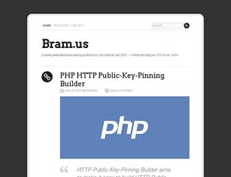 Main page screenshot of bram.us