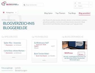 Main page screenshot of bloggerei.de