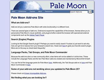 addons.palemoon.org screenshot