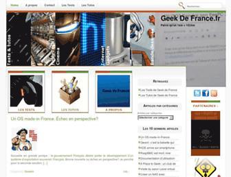 Main page screenshot of geekdefrance.fr