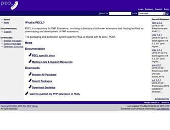 pecl.php.net screenshot