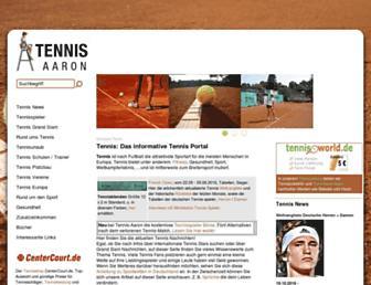 Main page screenshot of tennis-aaron.de