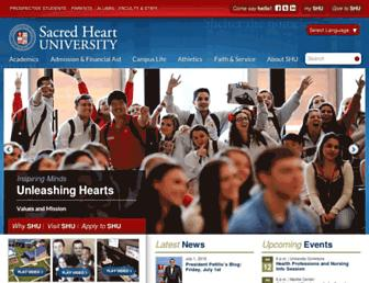 sacredheart.edu screenshot