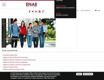 Main page screenshot of enae.es
