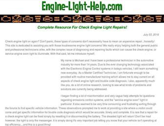 engine-light-help.com screenshot