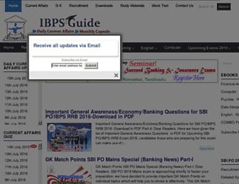 ibpsguide.com screenshot