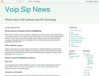 Main page screenshot of sip-info.org