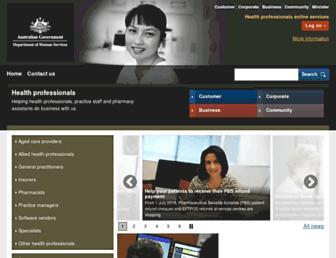 Thumbshot of Medicareaustralia.gov.au