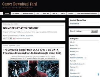 gamesdownloadyard.blogspot.com screenshot