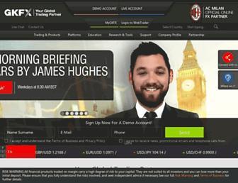 gkfx.com screenshot