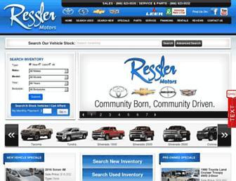 resslermotors.com screenshot