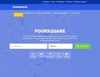 fr.foursquare.com screenshot