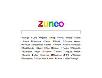 Main page screenshot of zuneo.fr