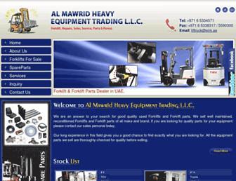 almawridforklifts.net screenshot