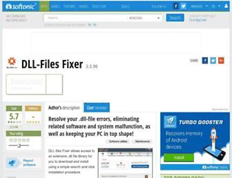 dll-files-fixer.en.softonic.com screenshot