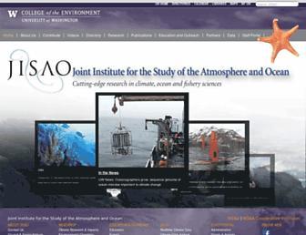Main page screenshot of jisao.washington.edu