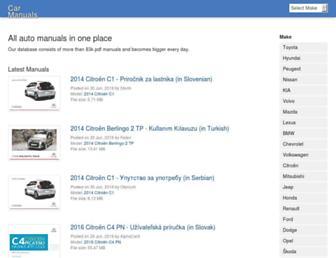 carmanuals2.com screenshot
