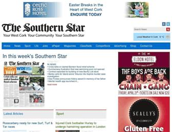 Main page screenshot of southernstar.ie