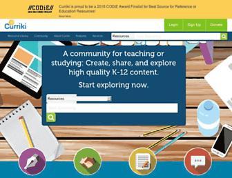 curriki.org screenshot