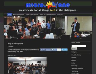Main page screenshot of micro.ph