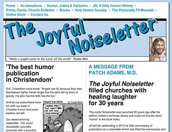 joyfulnoiseletter.com screenshot