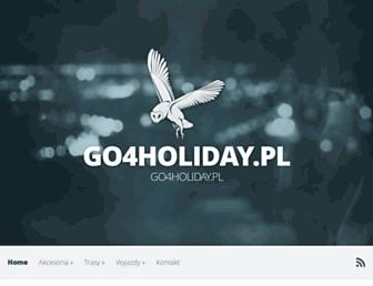 Main page screenshot of go4holiday.pl