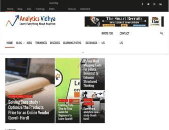 analyticsvidhya.com screenshot