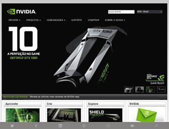 nvidia.com.br screenshot