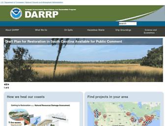 darrp.noaa.gov screenshot