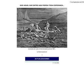 Main page screenshot of alaingarcia.net
